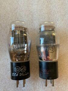RCA 45 Black Plate Tube Pair Audio Tubes