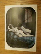 Early Erotic Photo Postcard - Victorian Risque Nude Art - Vintage Erotica - 21