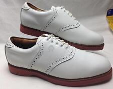NEW- Tommy Hilfiger Men's White Saddle Oxford Golf Shoes Size 11.5 M  #B444
