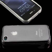 5 x CLEAR APPLE iPHONE 4 /4S SOFT SILICONE GEL RUBBER CASES FROSTED BACK TPU M20