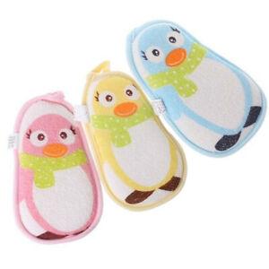 Baby Body Scrub Bath Brushes Sponge Animal Pattern Shower Brushes ST