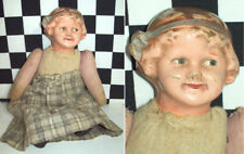 "8"" Antique Composition Head on Jointed Cloth Body Looks of Croquet Girl 1900~"