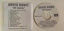 DAVID BOWIE CD PROMO 16 TRACKS HYPER RARE EMI MUSIC FRANCE