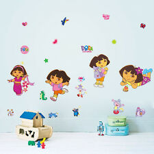 Dora Girls gift Cartoon kids room decor Wall sticker PVC Wallpaper wall decals