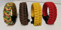LOT BRACELET COULEUR PARACORD SURVIE SECOURS SURVIVALISME BUSHCRAFT NECKLACE C1