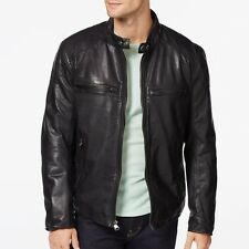 Marc New York by Andrew Marc Men's 2XL Mac Black Leather Jacket $595 msrp NWT
