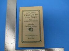 Vintage Appleton Whole Music Series Catalog By The Plaut-Cadden Co.  S1464