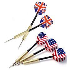 SET 3 FLECHETTES USA UK ETATS UNIS ANGLETERRE POINTE METAL POUR CIBLE