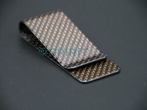 RED weave High Quality 100% 3K Carbon Fibre Money Clip - GLOSS Finish (M)