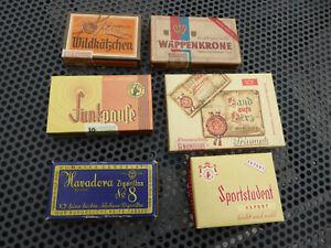 Konvolut alte Pappschachteln - Leere Zigarren / Zigarillos Schachteln