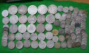 BULK LOT -  PRE 1920 19th & 20th CENTURY SCRAP .925 SILVER COINS - 382 GMS