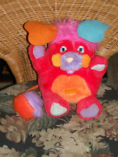 "1986 Plush Plucky Popples 11"" Bank Original Plug Characters from Cleveland"