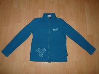 92. Jack Wolfskin Girls Sola Jacket Fleece Jacke Fleecejacke Gr 152 baltic blue