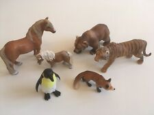 Schleich Toy Bundle Horses Penguin Bear Fox Foal
