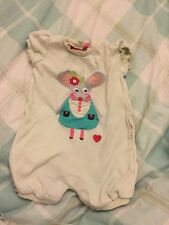 2 Olive And Moss Cream Pink Mouse Playsuits 6-12 Months Baby Girl Cutey Couture