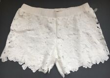 NWT $98 UGG Lined Floral White Lace Pretty pair Shorts or Swim Cover up Large!