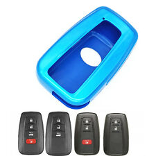 Blue Paint Plastic Remote Smart Key Case Cover Chain for HYQ14FBC 2018 Toyota