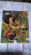 Vintage Rabbit Nursery Jigsaw Puzzle 940 S ou 50 S