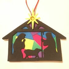 Colorful Nativity Silhouette Christmas Ornament Craft Kit,2+ ITEMS SHIP FREE!