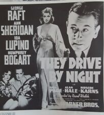 """Repro Movie Poster THEY DRIVE BY NIGHT George Raft 40s noir 12"""" Classic Film"""