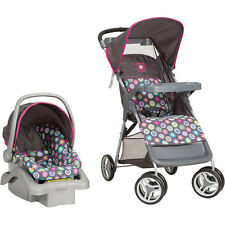 Cosco Lift & Stroll Travel System Baby Infant Toddler Stroller Car Seat, Bloom
