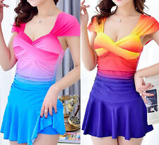 Polyester Patternless Swimwear for Women