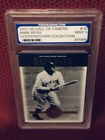 2001 ~ Babe Ruth #50 / UD Hall Of Famers - Baseball Card; PGS Graded ~ Mint 9