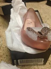 (NIB) Mini Melissa Ultragirl Cinderella Slip-On Flat Light Pink 1