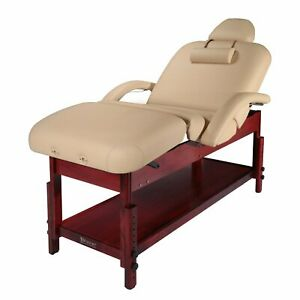 Master Massage 76cm Claudia Stationary Massage Table with Back tilt an leg rest