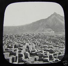 Glass Magic lantern slide GIANT CAUSEWAY GENERAL VIEW  C1890 IRELAND L66
