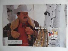 1986 Print Ad Marlboro Man Cigarettes ~ Western Cowboy Birch Tree Snow
