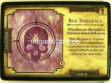 D & D Fortune Cards - 1x Bad Influence #024