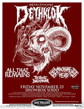 METALOCALYPSE:DETHKLOK/ALL THAT REMAINS/MACHINE HEAD 2012 SEATTLE CONCERT POSTER