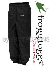 FROGG TOGGS RAIN GEAR-MENS BLACK PANTS-PA83122-01 PRO ACTION FISHING WEAR HIKING