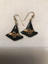 Witches Hat Halloween Earrings Pierced