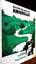 TONY CHRISTIE: (IS THIS THE WAY TO) AMARILLO (SHEET MUSIC)