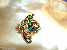 "Gorgeous ""JOAN RIVERS"" Holiday Lights BEE Pin / Brooch"