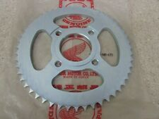 NOS 74-78 HONDA XL125 XL 125 77 CT125 TRAIL OEM 52T REAR SPROCKET 41201-382-670