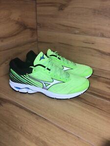 Mizuno Wave Rider 22 Mens Running Shoes (Green Gecko- Silver ) Size 12 Uk VGC