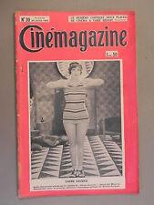 Cinémagazine - N°30 - 26 Juillet 1929 - Laure SAVIDGE - Gaston JACQUET