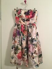 Forever New Floral Silk Dress - Size 4