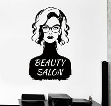 Vinyl Wall Decal Beauty Salon Fashion Style Woman Stickers (ig4392)