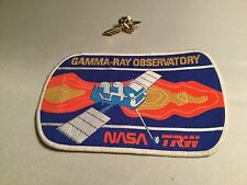 VINTAGE NASA TRW GAMMA-RAY OBSERVATORY SEW ON PATCH & PIN LOT