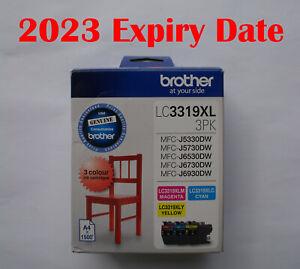 Genuine Brother LC-3319XL 3PK C/M/Y 3 Inks J5330DW J5730DW J6530DW J6730DW J6930