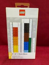 """LEGO STATIONERY BUILDABLE 12"""" RULER BUILDING BRICKS #51498 NEW in Box"""