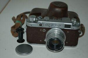 FED 2 Type B4 Vintage Red 1957 Soviet Rangefinder Camera, Case. 401370. UK Sale