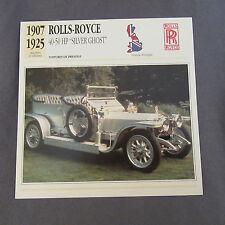 659C Edito Servizio Spina Opuscolo Rolls Royce Argento Ghost