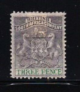 Album Treasures  Rhodesia Scott #  4  3p  Coat of Arms  Mint Hinged