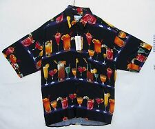NEW MONTICERUT BEAUTIFUL COCKTAIL SHIRT 100% RAYON RARE SIZE M
