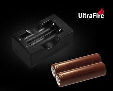 2x LG HG2 Akku INR18650HG2 3,6V 3000mAh 20A inkl Ultrafire Compact Ladegerät SET